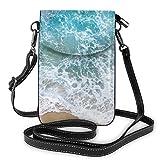 Bolso bandolera pequeño para teléfono celular azul marino monedero de cuero crossbody bolsos bolso de hombro Forlady