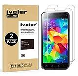 ivoler [Pack de 2] Verre Trempé Compatible avec Samsung Galaxy S5 Mini [Garantie à...