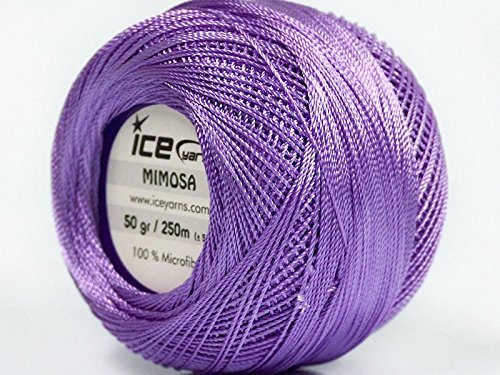 Lavender Mimosa Size 10 Microfiber Crochet Thread - 50 Gram