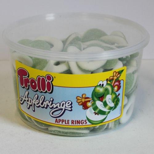 Trolli - Saure Apfelringe - Schaumgummi - Fruchtgummi - 150St/1200g