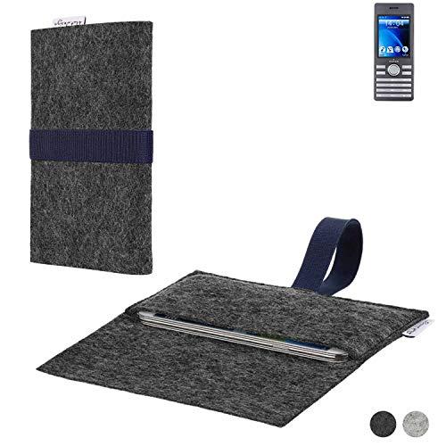 flat.design Handy Hülle Aveiro für Kazam Life B6 passgenaue Filz Tasche Case Sleeve Made in Germany