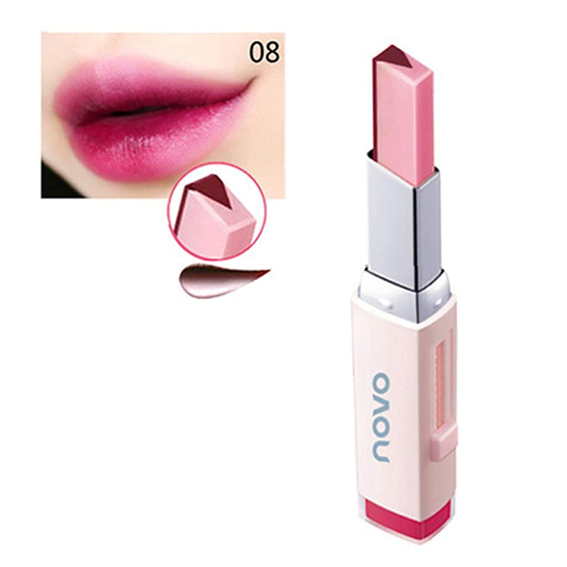 履歴書ヒューマニスティック柱Kimyuo 二重色Vの形の唇の構造の口紅の保湿の栄養の口紅8色