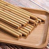 A1SONIC Palillos reutilizables de bambú natural chino largo y ligero para comer madera cocinar-10 pares de juegos de regalo lavavajillas 25 cm