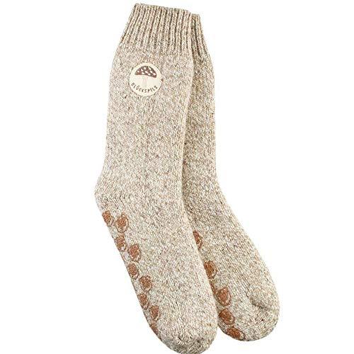 Adelheid Damen Glückspilz Stricksocken Socken, Beige (Haselnuss 302), 39/42 (Herstellergröße: M)