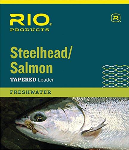 RIO Fly Fishing Salmon/Steelhead 9' 16Lb Leaders (Pack 3), Glacial Green