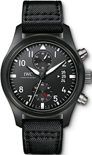 IWC Orologio automatico svizzero da uomo con cinturino in acciaio inox, nero (modello: IW388007)
