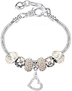White Birch Fit Pandora Charm Bracelet All Month Birthstone Best Birthday Gifts for Women and Girls DIY Jewelry