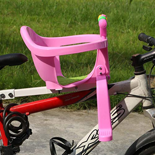 WAJJ Elektroauto vorne Kindersitz Faltrad Mountainbike Fahrrad Kindersitz,Rosa