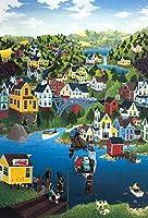 大人のパズル6000ピース小さな町スタイルの楽しいゲームDIY家の装飾