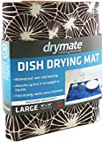 Drymate Dish Drying Mat, Premium XL Size (19' x 24'), Kitchen Dish Drying Pad – Absorbent/Waterproof – Machine Washable (Made in the USA) (Kahopo Grey)