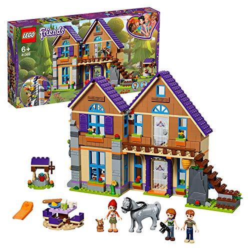 LEGO 41369 Friends Mias Haus mit Pferd, Bauset mit 3 Minipuppen, Kaninchenfigur und Pferdefigur, Bauen & Spielen, Puppenhaus für Kinder