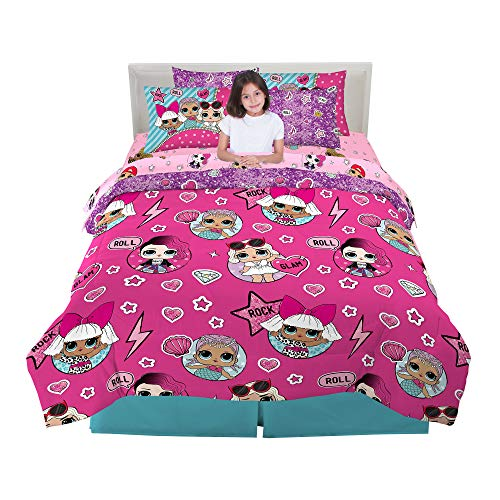 Franco Kids Bedding Super Soft Comforter and Sheet Set with Bonus Sham, 7 Piece Full Size, LOL Surprise