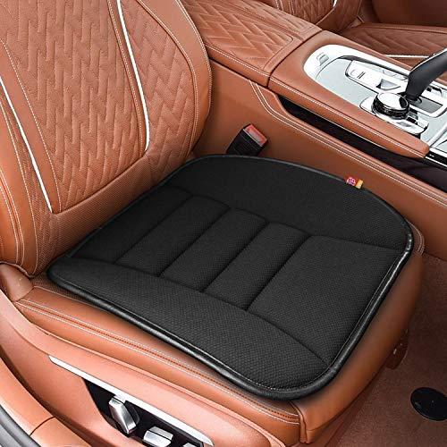 RaoRanDang Breathable Car Seat Cushions Pad Memory Foam Seat Cushion for Auto Supplies Office Chair (Black)