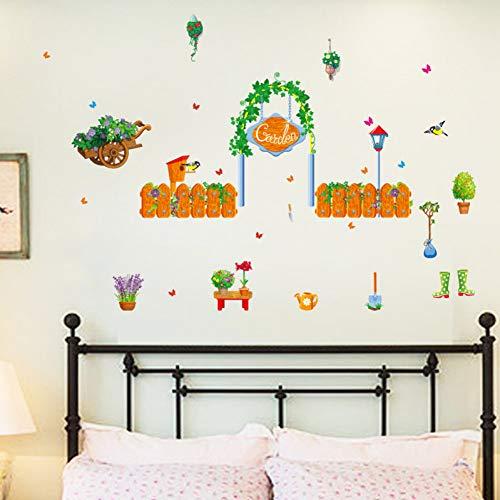 DALAO muurtattoo tuinhuis groen fris versierd sofa slaapkamer woonkamer kast muursticker