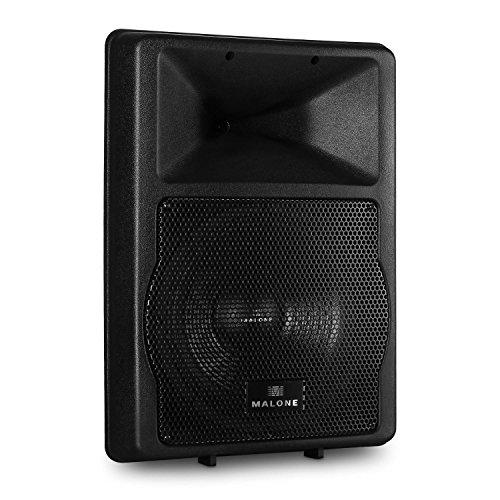 Malone PW-EV-12A - aktive PA Box, 2-Wege-Lautsprecherbox, PA-Lautsprecher, Konzertlautsprecher, 1100 W max. Leistung, 30 cm (12\'\')-Subwoofer, Frequenzbereich: 50 Hz - 18 kHz, schwarz