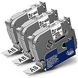 3x Labelwell 18mm x 8m Sostituzione Nastro Compatibile per Brother Tz TZe-M941 TZeM941 Nero su Argento Opaco per Brother PT-D450VP PT-D400 PT-E300VP PT-E500VP PTP900W PTP950NW PT-P750W RL-700S