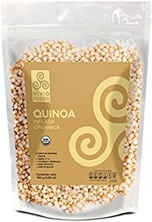 Vivio Foods Quinoa Orgánica Inflada, 100 g