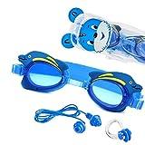 Sportastisch Kinder Schwimmbrille Topdesign¹ Swim Buddy Dolphin mit Verstellbarer Nase Zubehör &...