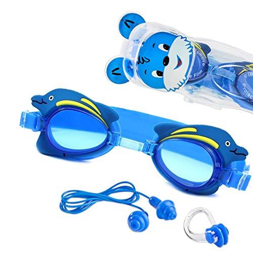 Sportastisch Kinder Schwimmbrille Topdesign¹ Swim Buddy Dolphin mit Verstellbarer Nase Zubehör & E-Book, Schwimmbrillen für Kinder mit 4 6 8 10 Jahre und Jugendliche mit bis zu 3 Jahren Garantie²