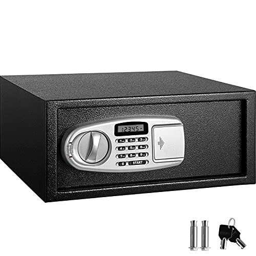 YJF-ZWS 0.8 Cub Cassetta di Sicurezza per Armadietto Ignifugo E Impermeabile, Cassaforte con Combinazione Digitale E Schermo LCD con Tastiera, per Armadietto per Pistole Gioielli con Denaro Contante