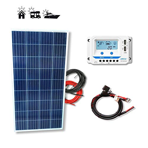 VIASOLAR Kit solar 150W Pro 12V placa solar panel...