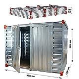 Lagercontainer mit Doppelflügeltür Lange Seite Baucontainer Gartenhaus Blechcontainer Container (3 Meter)