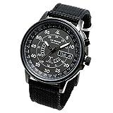 [ラドウェザー] 電波ソーラー腕時計 メンズ 100m防水 腕時計 lad017 (フルブラック)