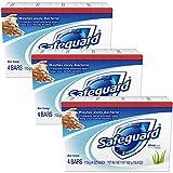 Safeguard Antibakteriell Deodorant Seife Weiß mit Aloe 4 Unzen Bars, 4ea (3er-Pack)