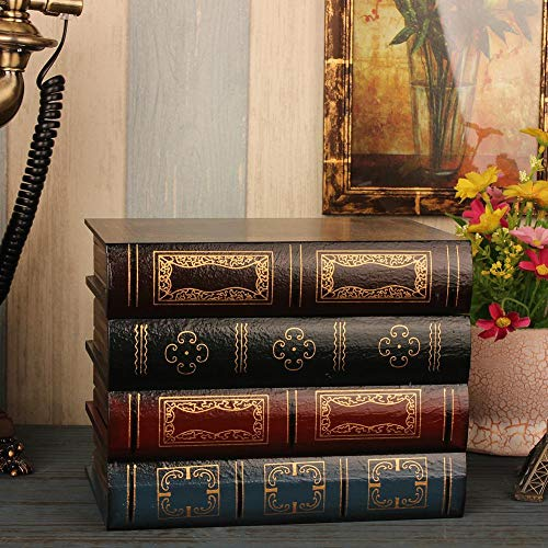 Lucky Family Europeo Retro Libro Falso Libro de Simulaci/ón Caja de Almacenamiento Ornamento Decoraci/ón Oficina Libro Modelo Photo Prop Libro