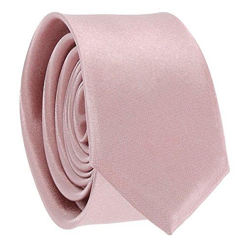 Krawatte, Fliege für Herren und Jungen, Tasche für Kostüm und Manschettenknöpfe, altrosa, altrosa, puderrosa – Hochzeit Gr. Einheitsgröße, Krawatte