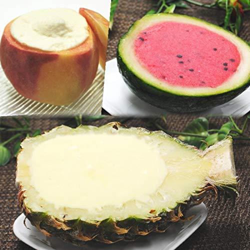 まるごと アイス サマー セット 5個 化粧箱(スイカ2個、ピーチ2個、パイナップル1個)爽やかなシャーベット食感の果物をまるごと器に使用