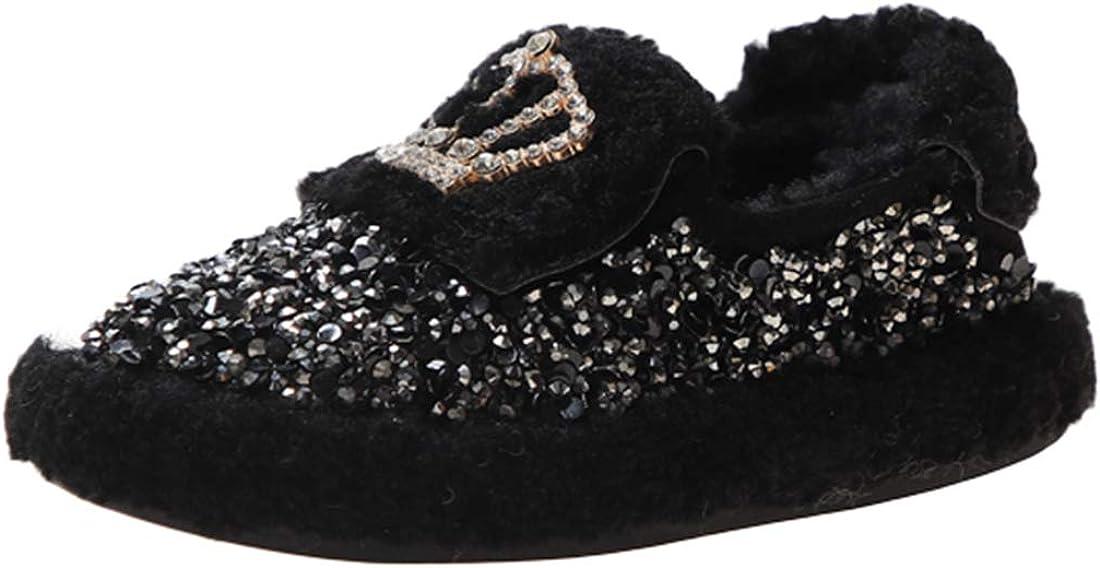 Boston Mall low-pricing Greneric Joeupin Girls Glitter Winter Indoor Hou Shoes Anti-Slip