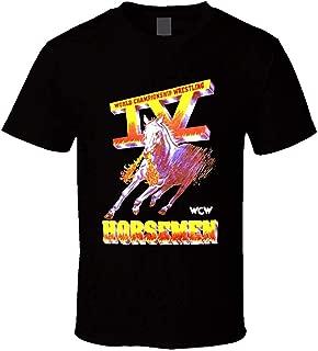 TammyRLewis Men's WCW Four 4 Horsemen Wrestling Legends Cool Tees Casual T-Shirt
