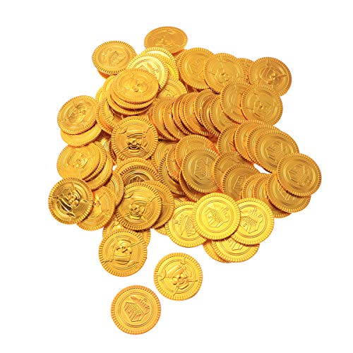 Toyvian Monedas de Oro Piratas Treasure Hunt Toys for Kids 200pcs