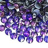 BrillaBenny Hotfix - Lote de 1400 cristales brillantes de color morado oscuro, termoadhesivos para decoración de ropa, joyas, bolsos (SS10/3 mm)