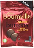 Cadbury Bournville Chocolate Buttons Bag, 95 g, Pack of 10
