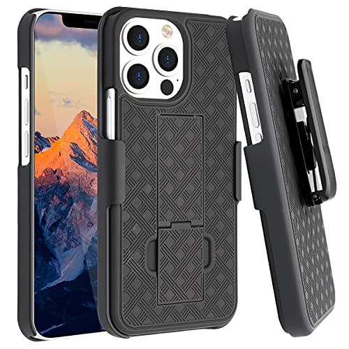 Fingic Compatible with iPhone 13 Pro 5G Belt Clip Holster...