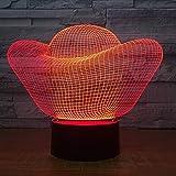 Lámpara De Luz Nocturna Decorativa Lingotes De Oro Con Ilusión En 3D De 7 Colores E Interruptor De Luz Para Regalo Creativo, Casa, Oficina O Decoración ,Para Niños Mejor Regalo