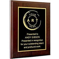 PROUDLY DISPLAY ACHIEVEMENTS: Show what you've accomplished with this custom recognition and award plaque. Select from Black with Gold Or Silver Engraving and a Wide selection of coated and solid wood. COMPLETELY CUSTOM: Provide us your Personalized ...