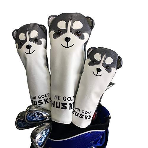Sunbro Golf ヘッドカバーゴルフ キャラクター Headcoversドライバーカバー ウッドカバー ユーティリティカバー 子犬/子猫 (子犬DR*FW*UT)