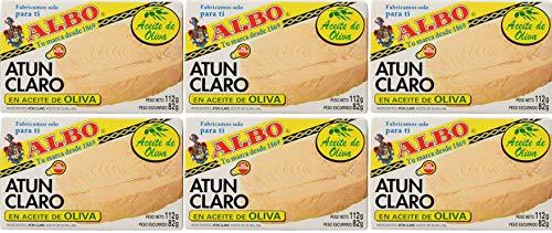 Albo - Atún claro en aceite de oliva - 112 g - [Pack de 6]