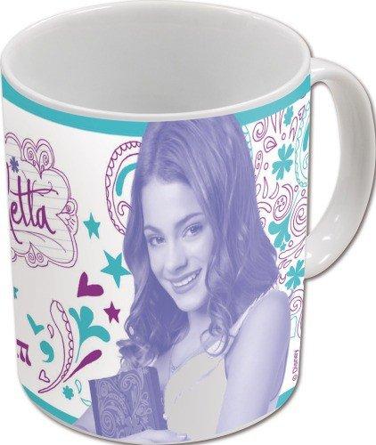 Violetta taza de porcelana en una caja de regalo