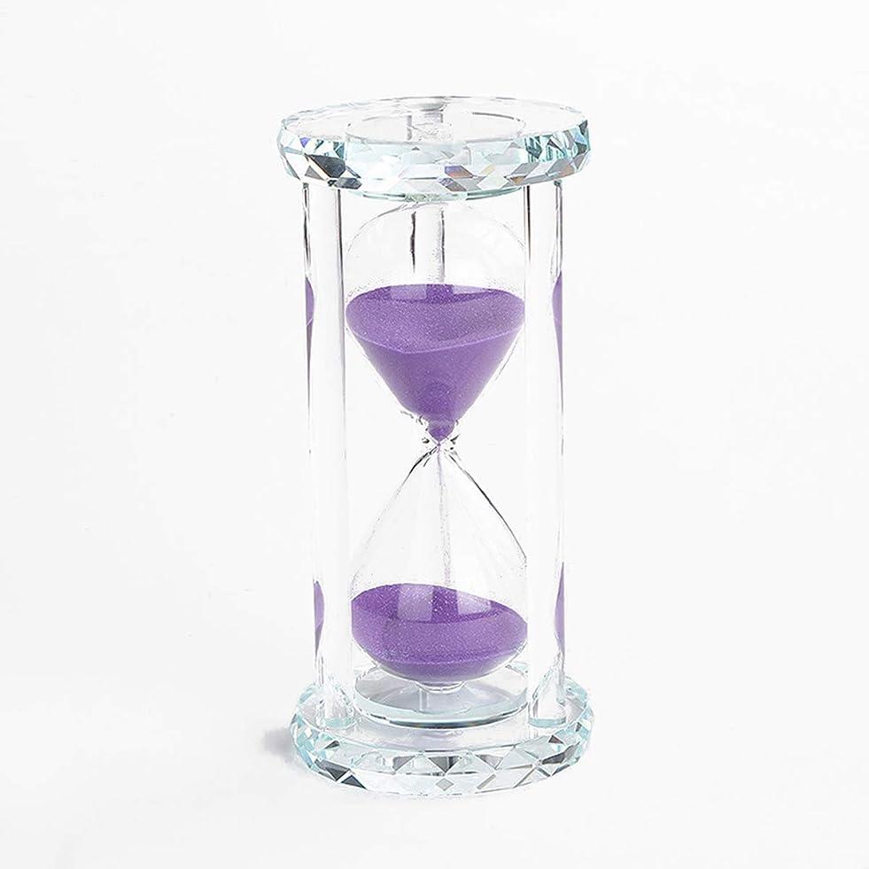 飼いならす大統領小競り合いBatreetek 砂時計 サンドタイマー 時計 ガラス 砂タイマー ゲーム 料理 運動 お風呂 インテリア飾り物 プレゼント贈り物 30分計 (パープル)
