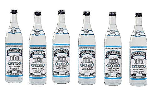 6 Flaschen Helenas Ouzo Griechischer Aperitiv a 0,7l Anis 37,5%