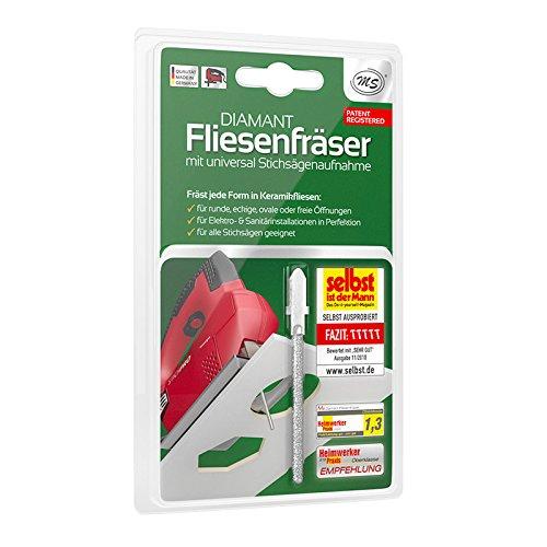 Diamant Fliesenfräser für Stichsägen - Für Wandfliesen aus Keramik bis 8mm - Nicht für Bodenfliesen geeignet - Fliesenschneider, Fliesenwerkzeug