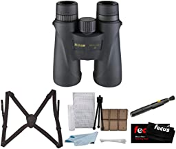 Nikon 7576 Monarch 5 8x42 Waterproof/Fogproof Roof Prism Binoculars Bundle with Nikon Lens Pen & Essential Accessories (5 Items)