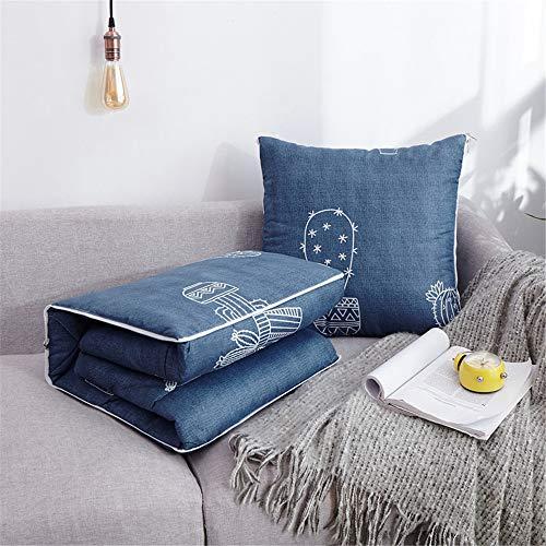 ZMXAWXJ 2 in 1 Kissen Deckenkissen Sofa Verwandlungskissen & Decke 150x110cm Besucherdecke Auto-Decke Kissen Set 10 40 * 40cm