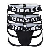 Diesel Herren Jockstrap 3er Pack - Umbr, Alltimers, Cotton Stretch, S.XL,Schwarz M (Gr. Medium)