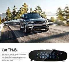 Pudincoco Smart Car TPMS Detección de Llantas en Tiempo Real Sistema de monitoreo de presión Solar LCD Digital Auto Seguridad Sistema de Alarma