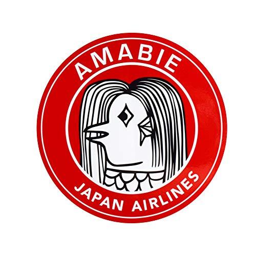 アマビエ JET ステッカー シール 日本航空 Japan Air Airlines JAL AMABIE Stiker レッド amabie アマビエJET 妖怪 疫病退散 航空 グッズ goods